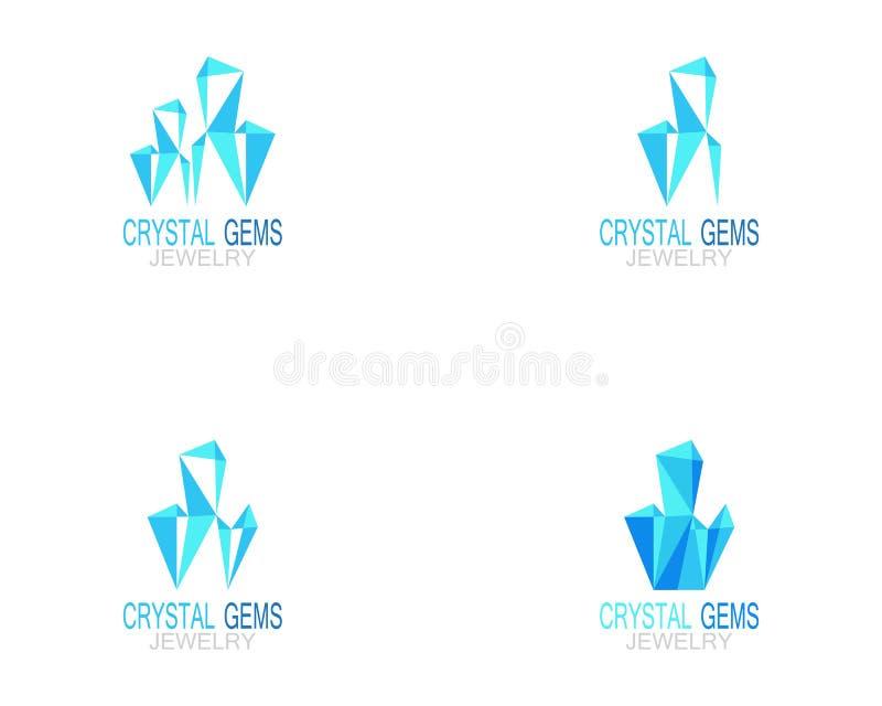 Kristalledelsteinschmuck-Logovektor lizenzfreie abbildung