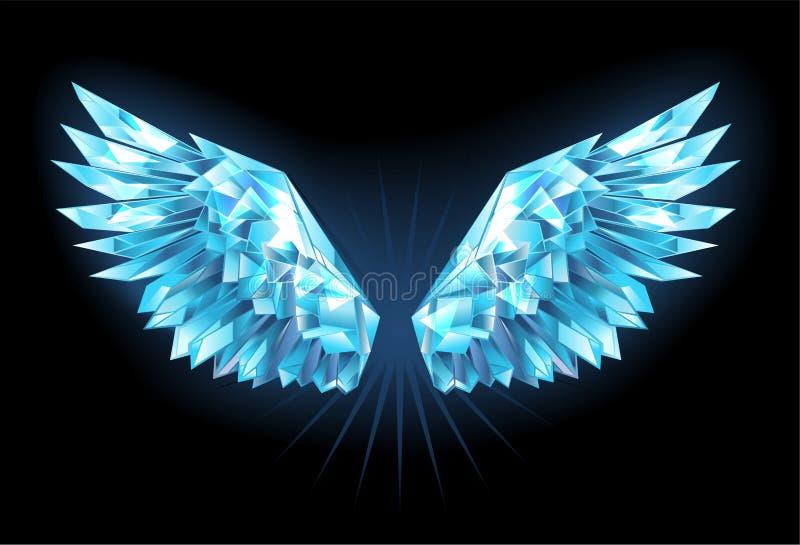 Kristalleisflügel stock abbildung