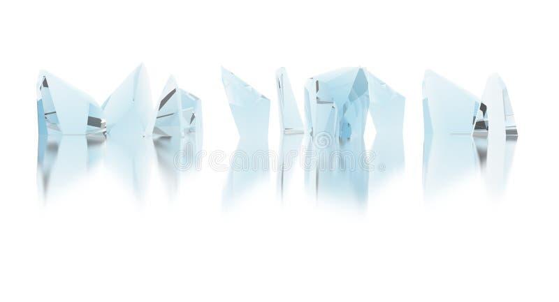 kristallen vector illustratie