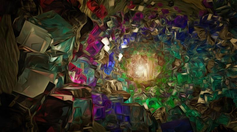 kristallen stock illustratie