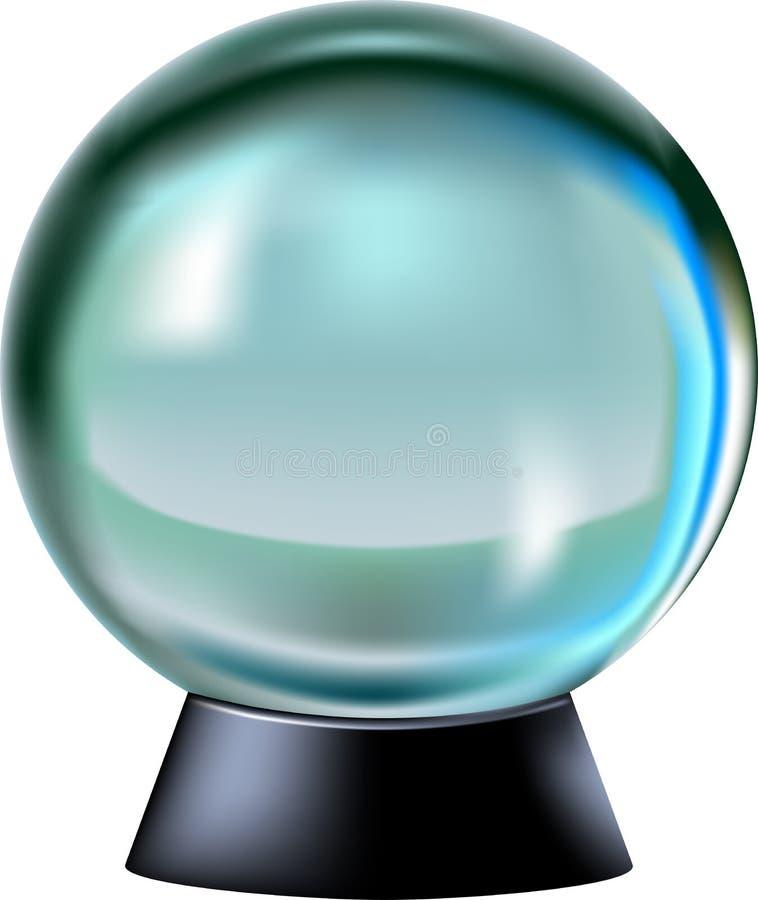 Kristallen bol stock illustratie