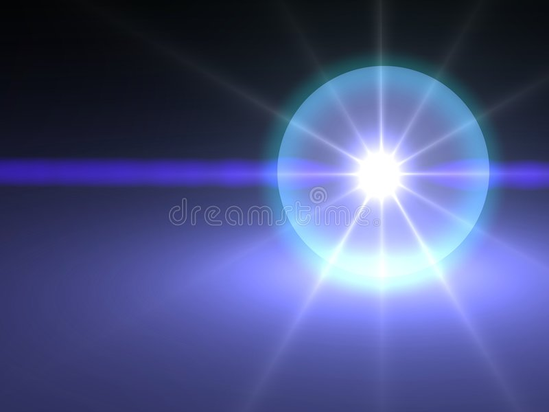 Kristallen bol royalty-vrije illustratie
