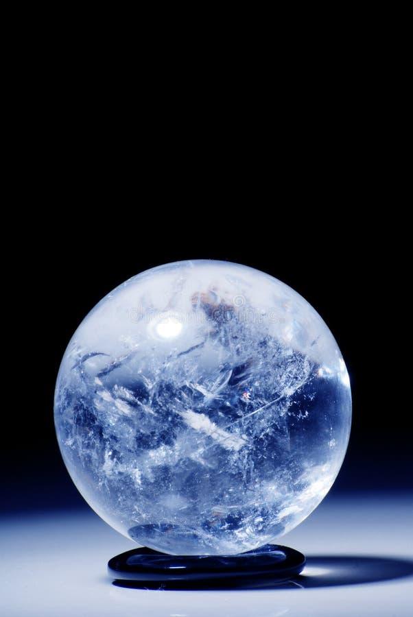 Kristallen bol royalty-vrije stock afbeeldingen