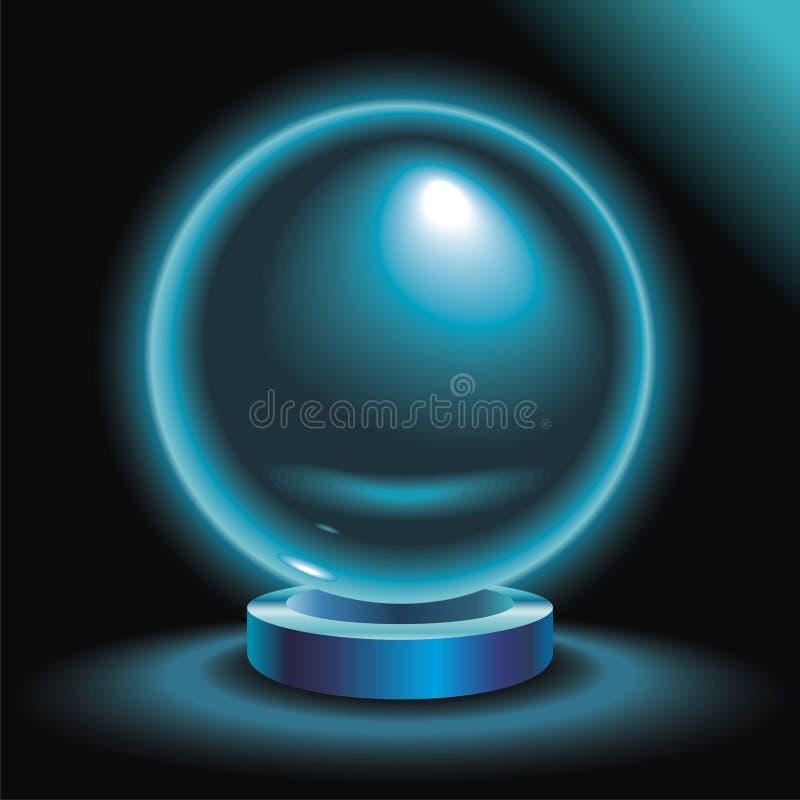 Kristallen bol vector illustratie
