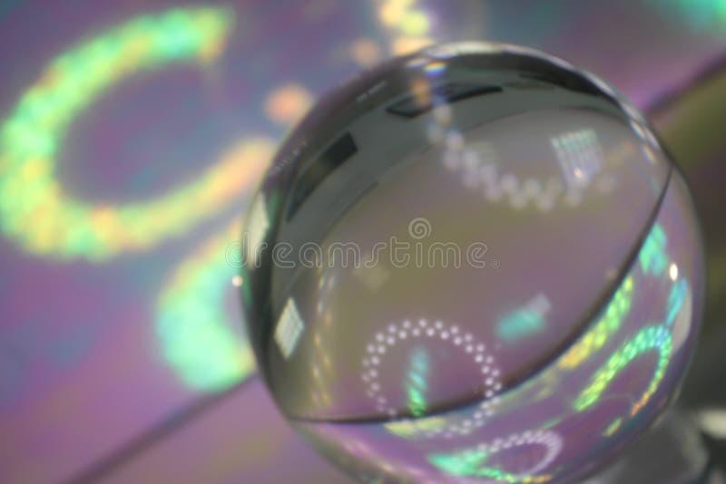 Kristallen bol met lichten royalty-vrije stock afbeeldingen