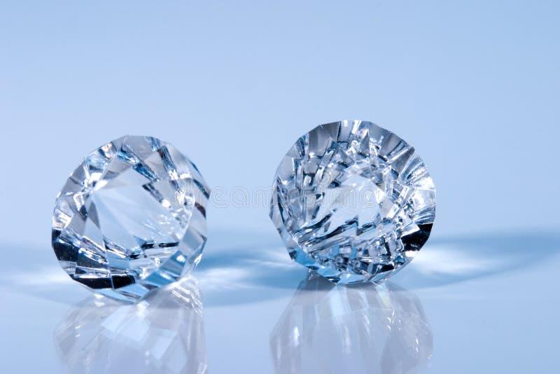 Kristallen, gestemd blauw stock afbeelding