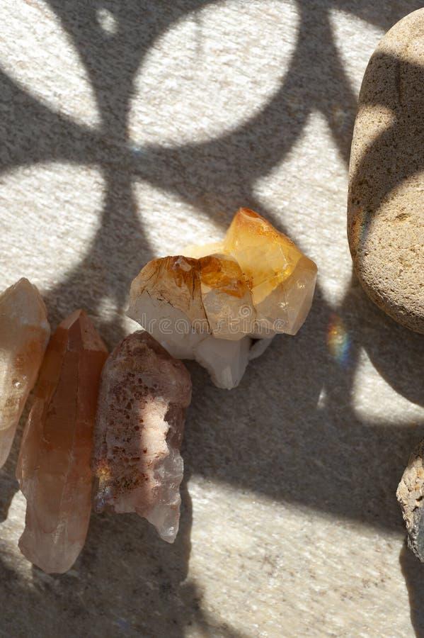 Kristallen in mooi licht royalty-vrije stock fotografie
