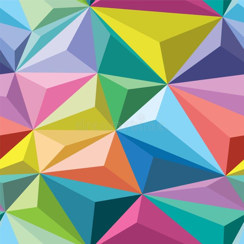 Kristallen Naadloos Patroon stock illustratie