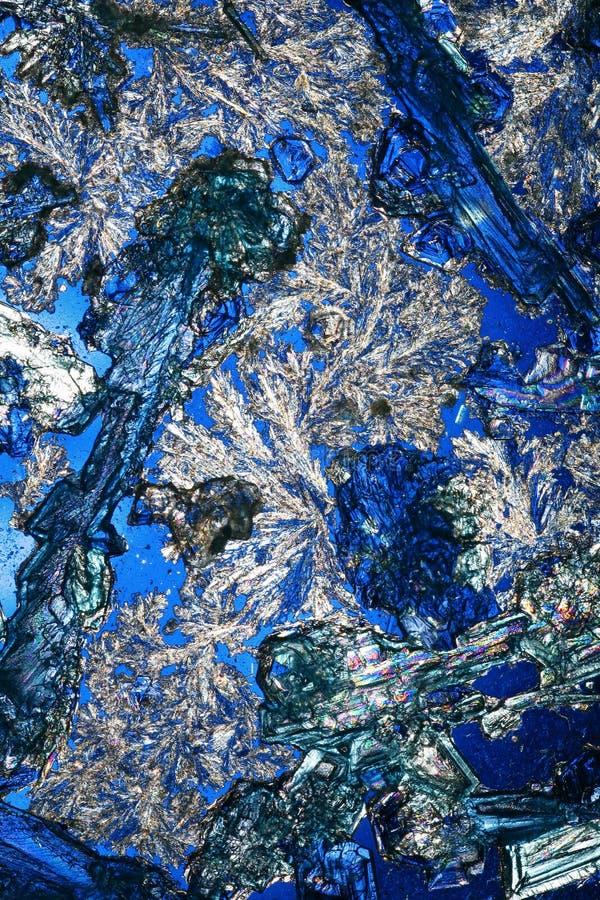 Kristallen op Koningsblauwen   royalty-vrije stock afbeeldingen