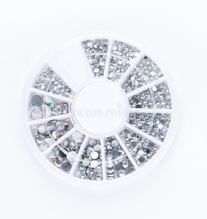 Kristallen spikar blänker isolerat royaltyfria foton
