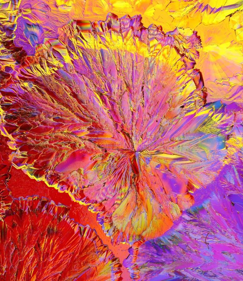 Kristallen van citroenzuur royalty-vrije stock fotografie