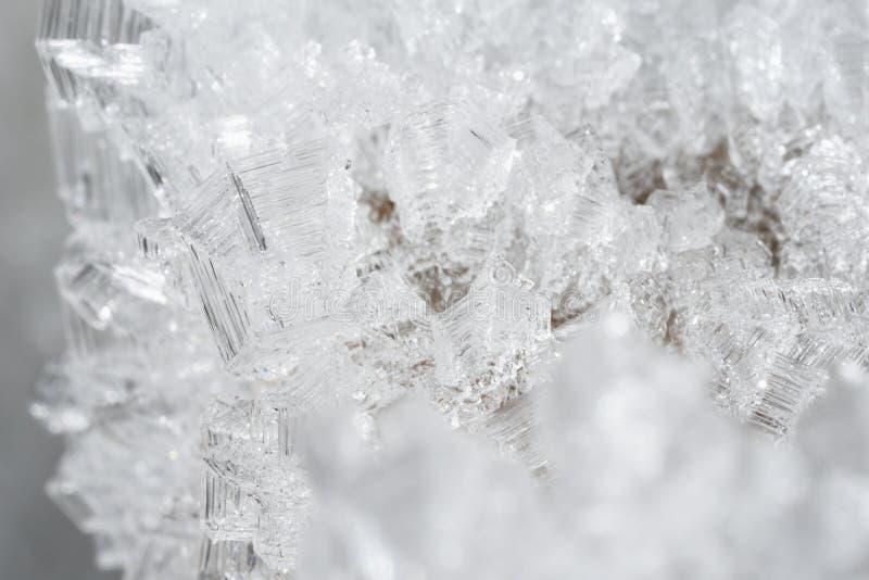 Kristallen van ijs stock afbeeldingen