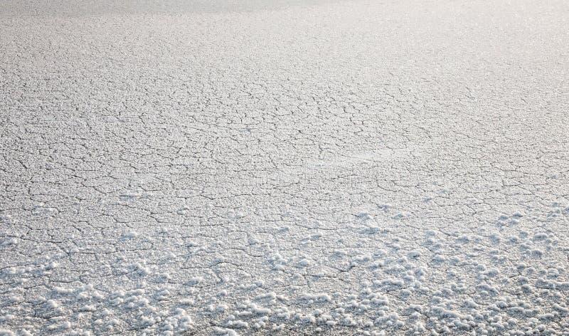 Kristallen van zout, zout meer Elton royalty-vrije stock foto's