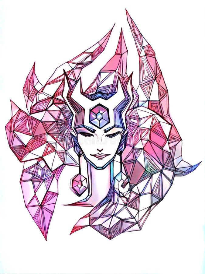 Kristallener Dämon vektor abbildung