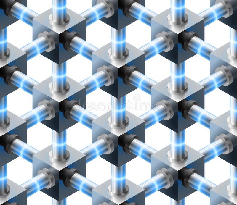 Kristallenes nahtloses Muster. vektor abbildung