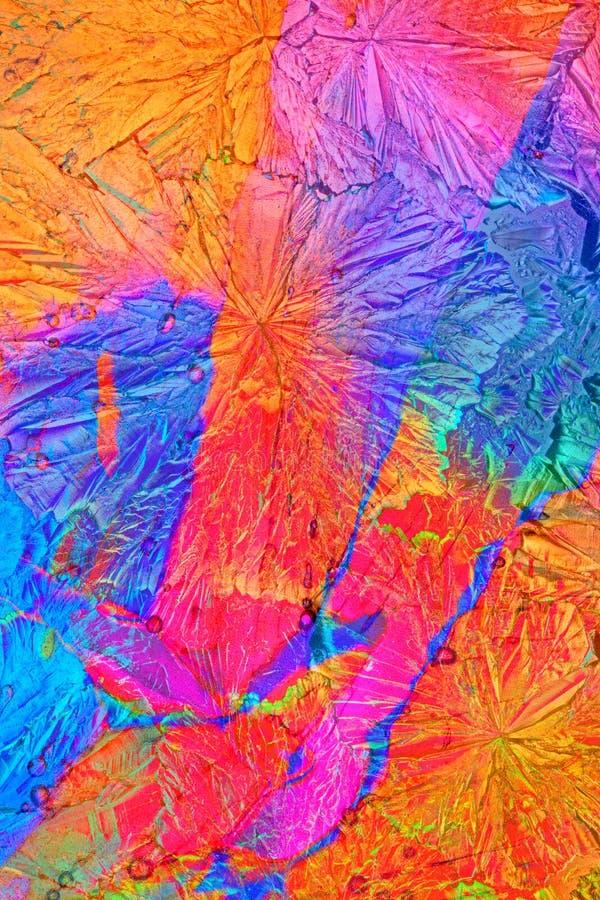 Komponera av färgrika kristaller arkivfoton