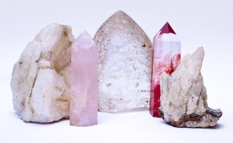 Kristaller och stenar fotografering för bildbyråer
