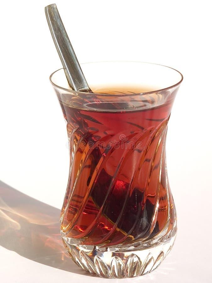 Kristallglas Tee stockbild
