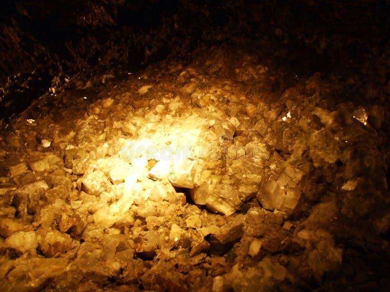 Kristallgrotta Kobelwald eller matris Kristallhöhle Kobelwald Kristallhohle Kobelwald eller Kristallhoehle Kobelwald arkivfoto