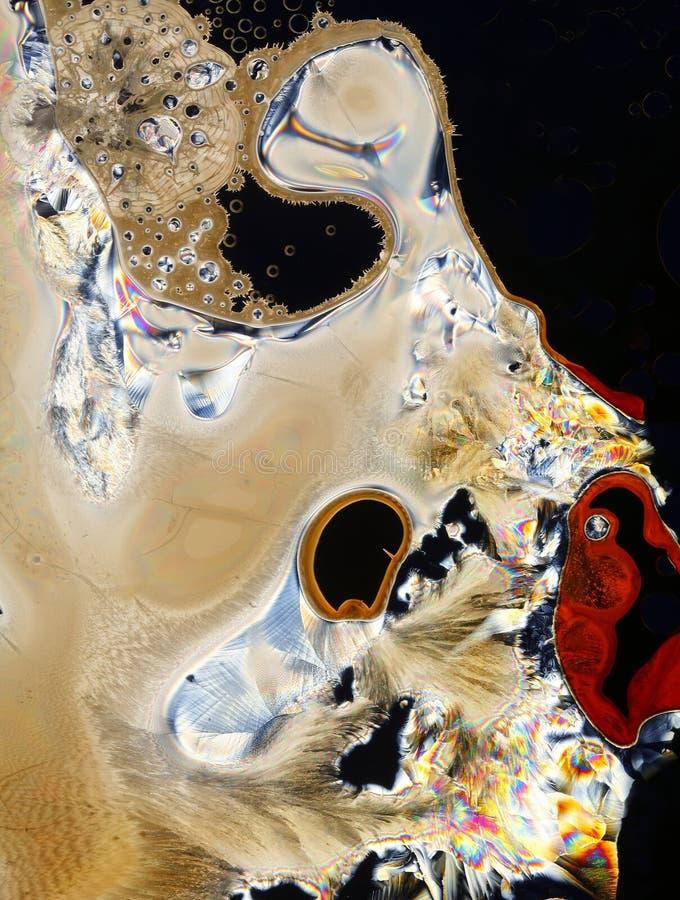 Kristallisierte Chemikalie   lizenzfreies stockfoto