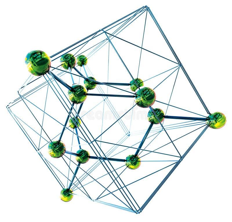 Kristallisk struktur av diamantasken royaltyfri fotografi