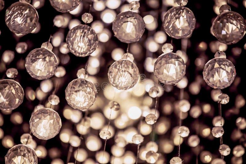 Kristallkrona i tappningfärgfilter royaltyfri foto