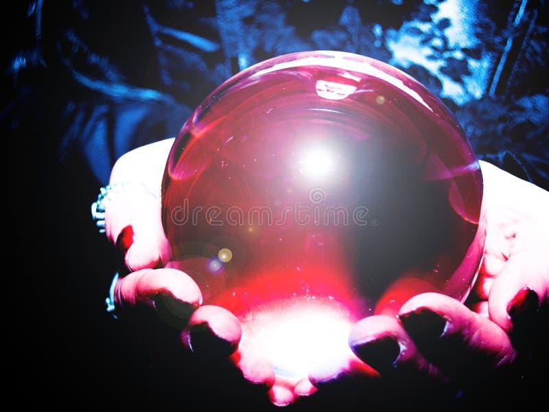 Kristallkugel lizenzfreie stockfotos