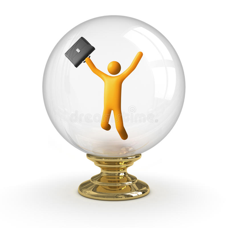 Kristallkugel - Geschäftserfolg lizenzfreie abbildung