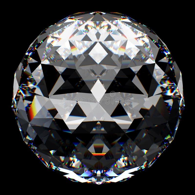 Kristallkugel mit Reflexion lizenzfreie abbildung