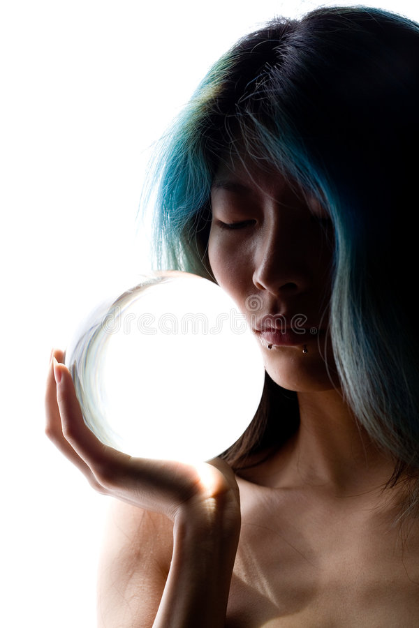 Kristallportrait stockfotos