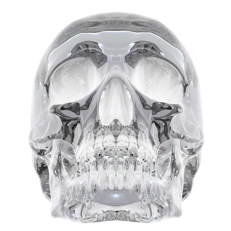 Kristallschädel stock abbildung
