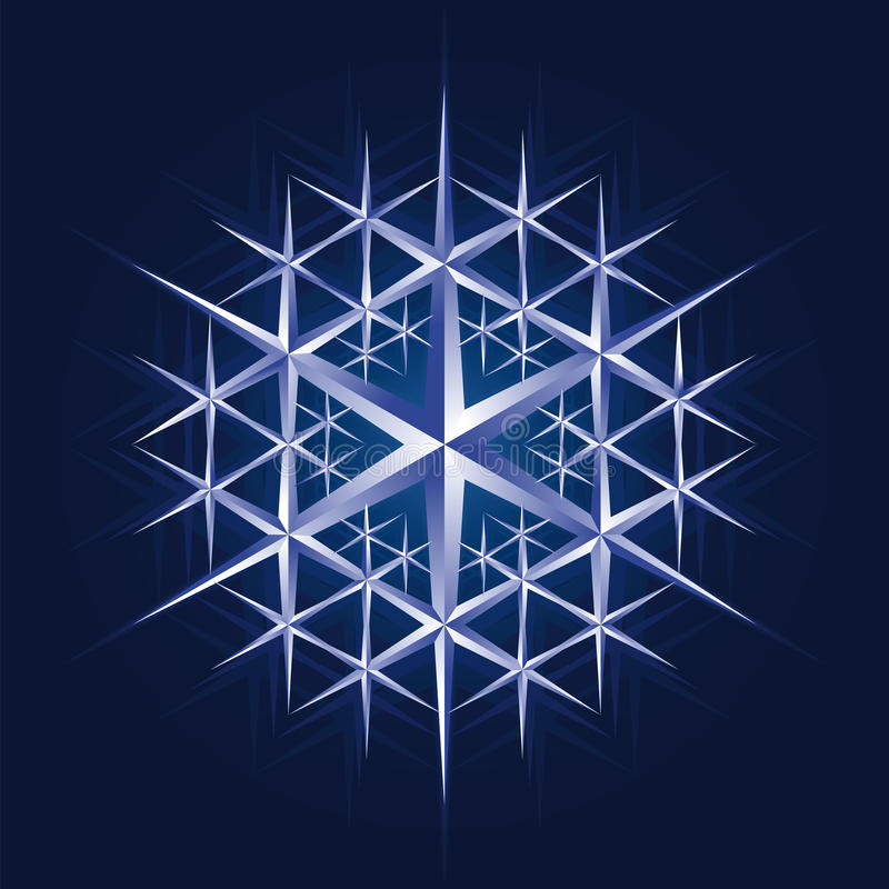 Kristallschneeflocke lizenzfreie abbildung