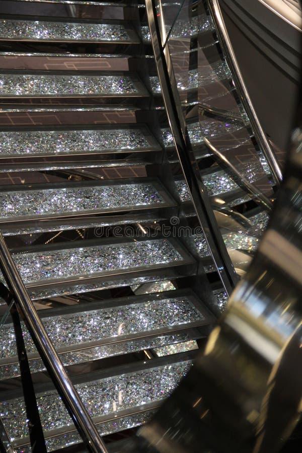 Kristallsken i design fotografering för bildbyråer