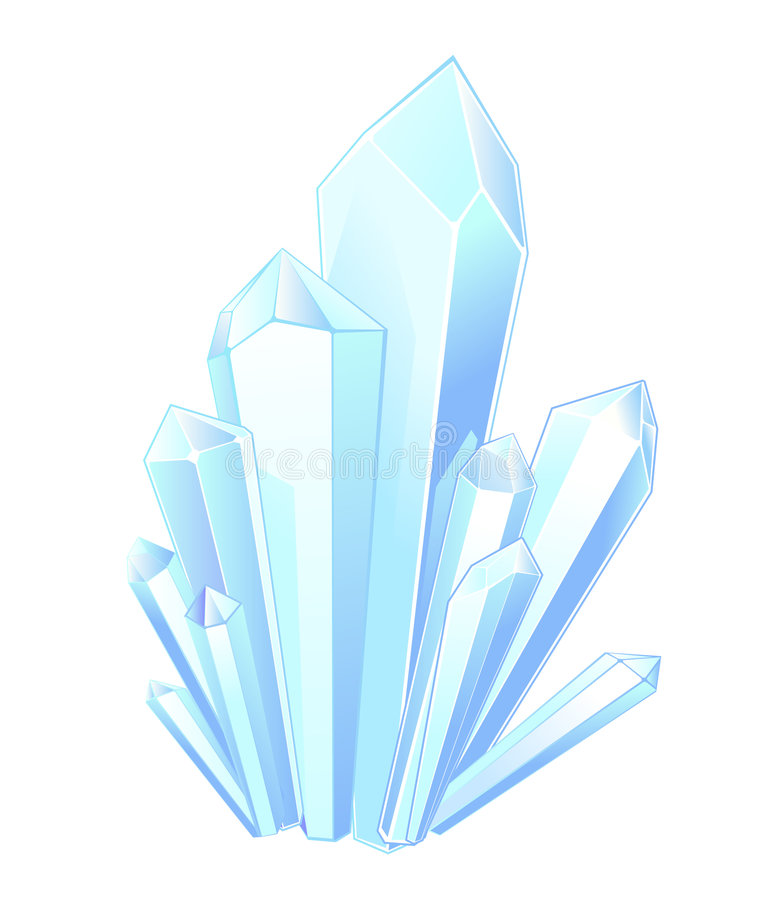 Kristallsteine stock abbildung