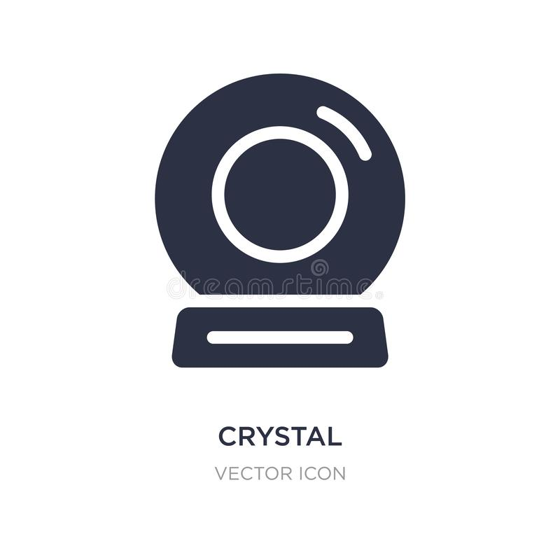 kristallsymbol på vit bakgrund Enkel beståndsdelillustration från underhållning och galleribegrepp royaltyfri illustrationer
