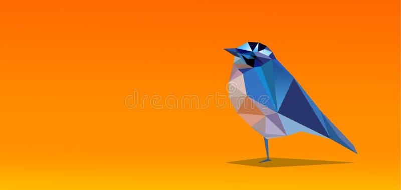 Kristallvogelillusion mit gelbem Hintergrund stockfotografie