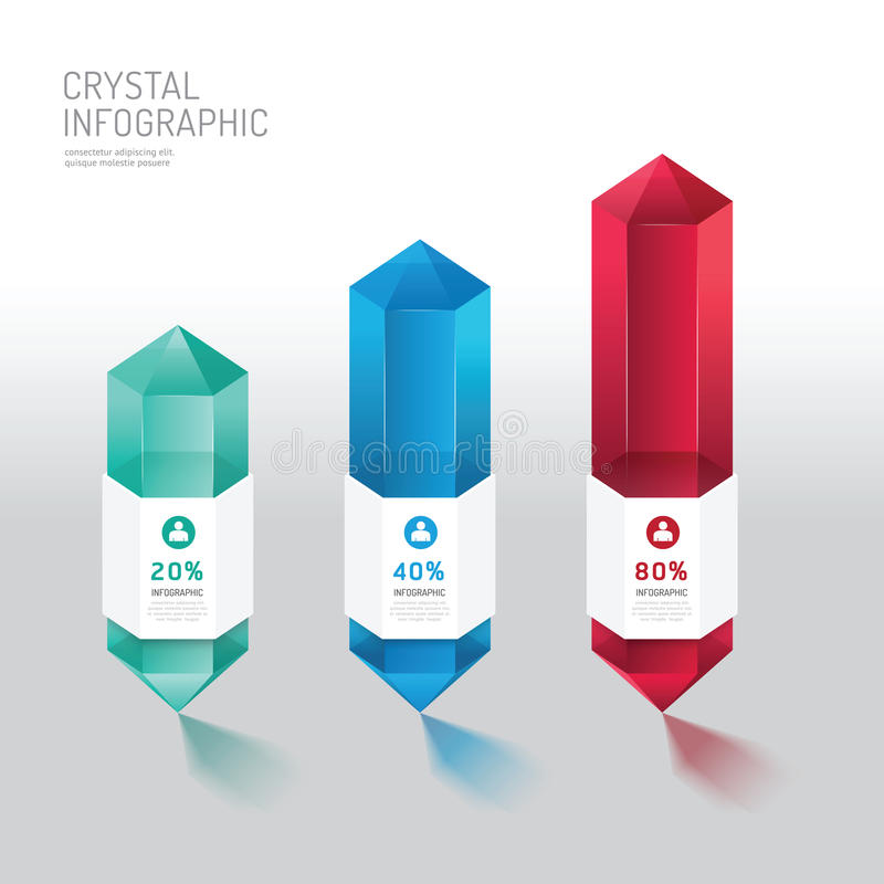 Kristallwahlfahne modernen infographics Designs Vektor vektor abbildung