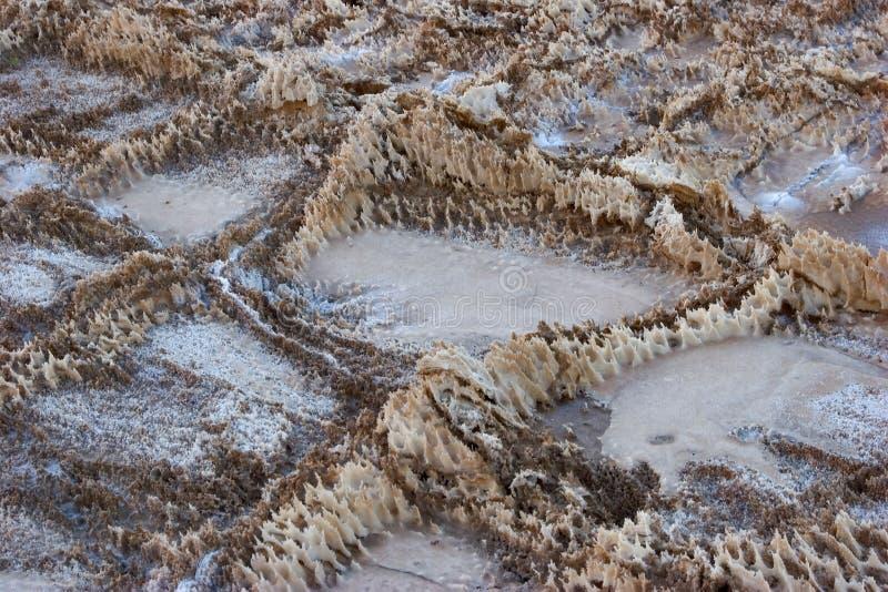 Kristalpatronen van zout royalty-vrije stock afbeelding