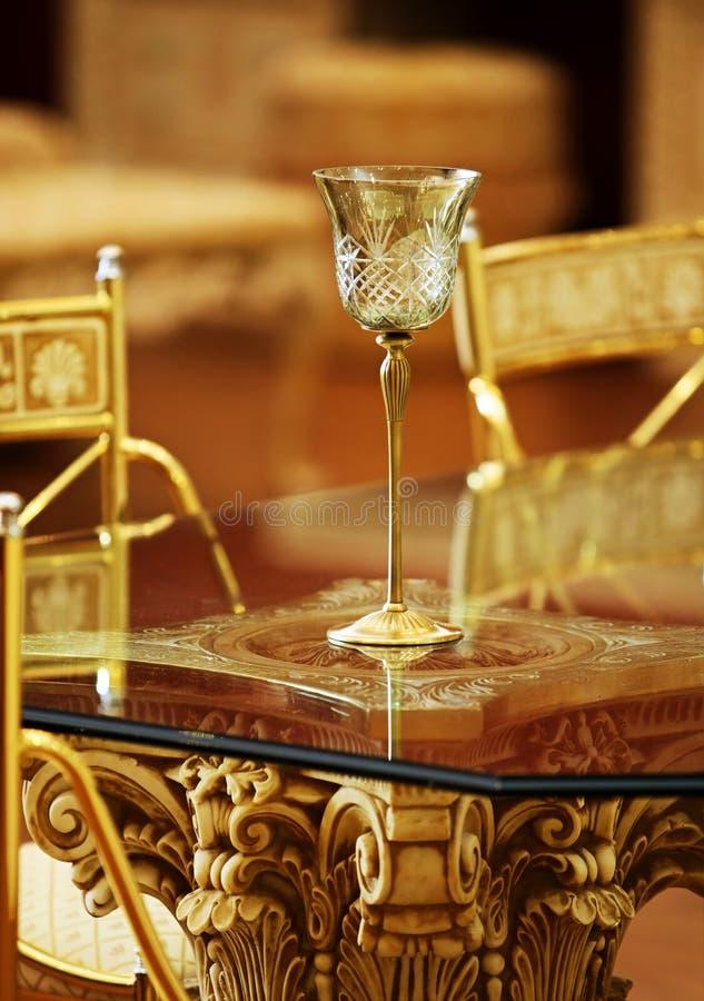 Kristalwijnglas royalty-vrije stock foto's