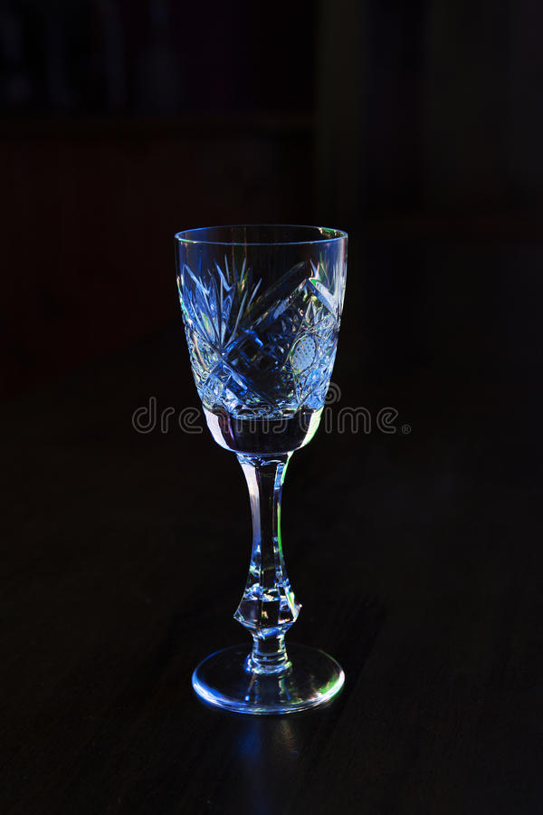 Kristalwijnglas stock foto's