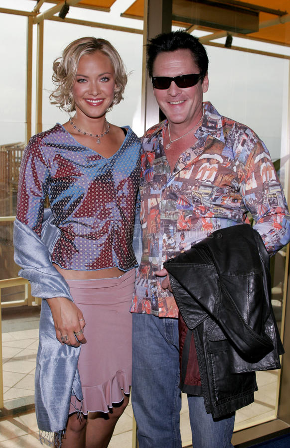 Kristanna Loken en Michael Madsen stock foto's