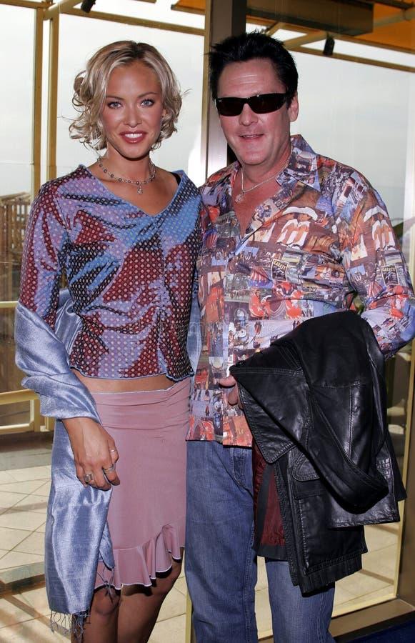 Kristanna Loken en Michael Madsen stock foto