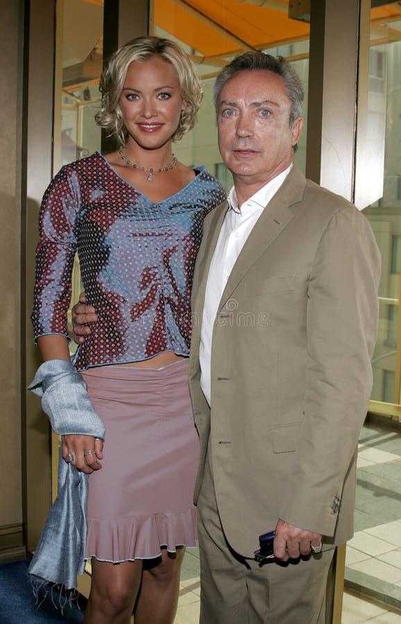 Kristanna Loken en Udo Kier royalty-vrije stock foto