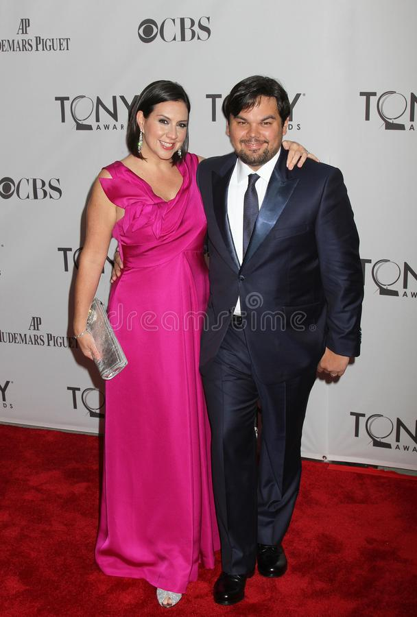 Kristen Андерсон и Роберт Lopez стоковые фото
