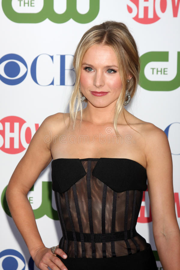 Kristen Bell. LOS ANGELES - AUG 3: Kristen Bell arriving at the CBS TCA Summer 2011 All Star Party at Robinson May Parking Garage on August 3, 2011 in Beverly royalty free stock photos
