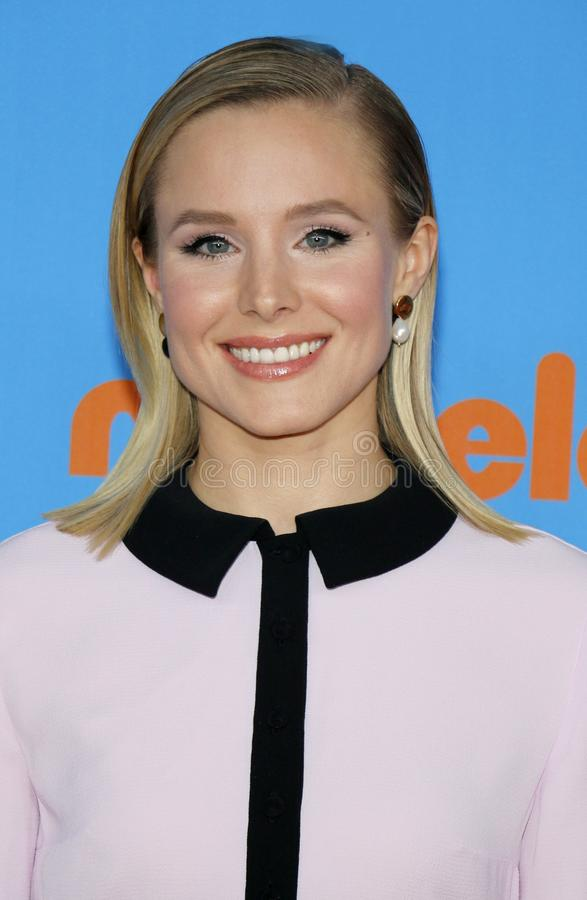 Kristen Bell. At the Nickelodeon`s 2018 Kids` Choice Awards held at the Forum in Inglewood, USA on March 24, 2018 stock image