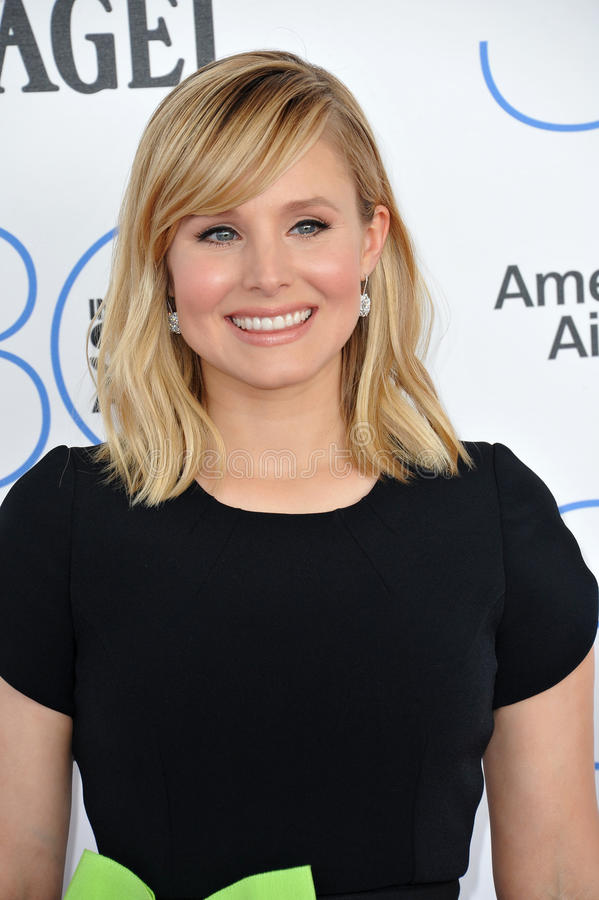 Kristen Bell. SANTA MONICA, CA - FEBRUARY 21, 2015: Kristen Bell at the 30th Annual Film Independent Spirit Awards on the beach in Santa Monica royalty free stock images