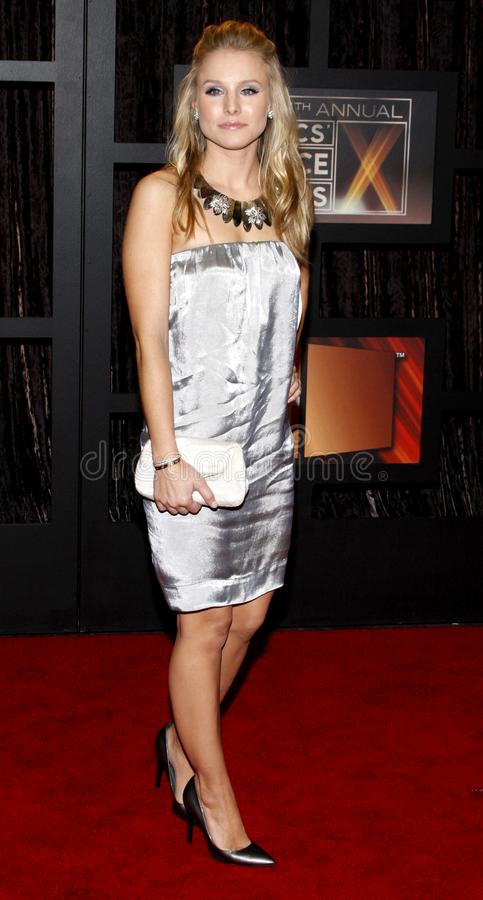 14th Annual Critics` Choice Awards. Kristen Bell at the 14th Annual Critics` Choice Awards held at the Santa Monica Civic Center in Santa Monica on January 8 royalty free stock images