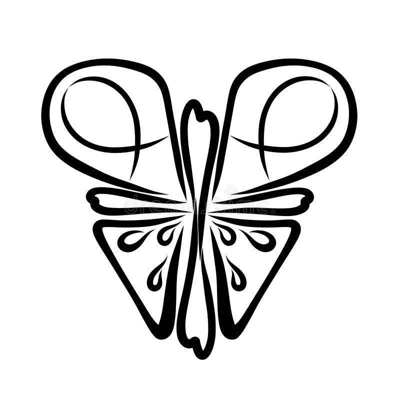 Kristen fjäril med symboler på vingarna vektor illustrationer