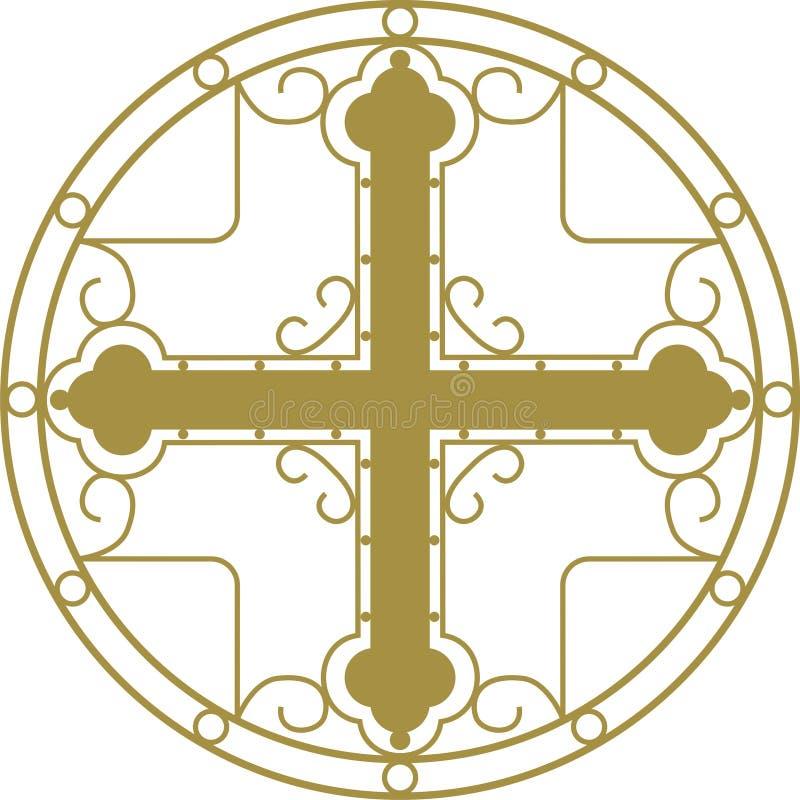 kristen korshelgedom royaltyfri illustrationer
